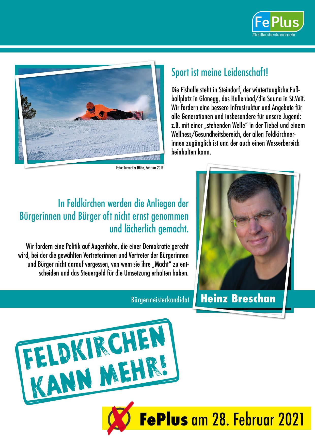 Bürgermeisterkandidat Heinz Breschan 2